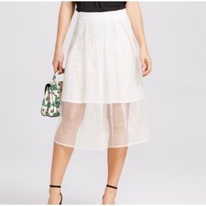 Who What Wear white  Birdcage  Skirt